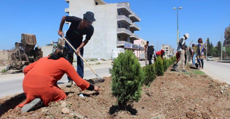 بلدية الشعب تدعو لتشجير محيط المساجد والكنائس في الرقة