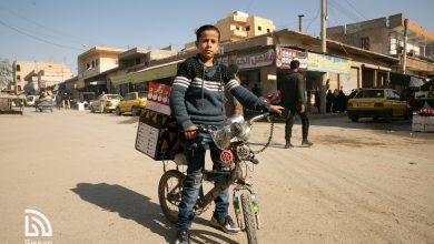 صور من شارع سيف الدولة أحد أحياء الرقة القديمة