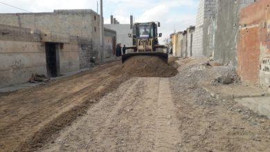 الخدمات الفنية في الرقة تكشف عن مراحل عملية تأهيل شوارع حي الدرعية