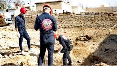 البدء بانتشال الجثث من مقبرة جماعية في الفروسية شمال الرقة