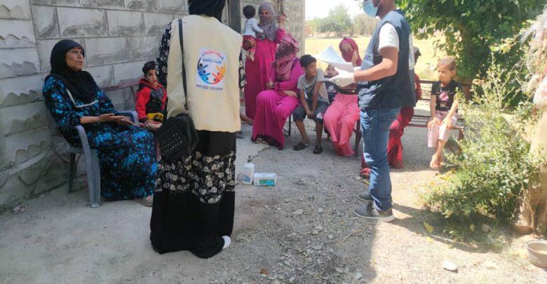 حملة توعية للحد من انتشار كورونا في هجين شرق دير الزور